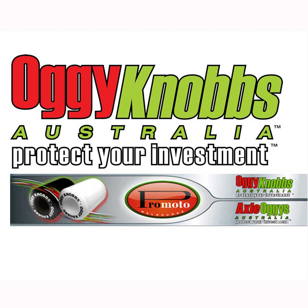 OGGY PARTS LH KNOBB WHITE R1 09 NO CUT STYLE