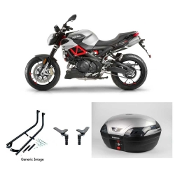SHIVER 900 17-20 Silver Astra Luxury Topbox Kit