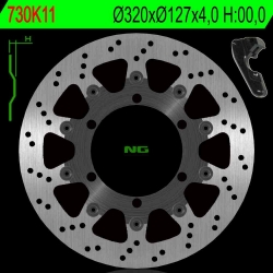 NG Oversize Rotor Kit 320mm Includes Bracket