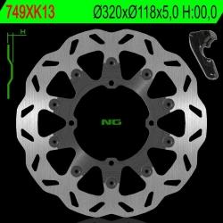 NG Oversize Rotor Kit 320mm Includes Bracket