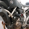 MT07 14-21 & XSR700 14-21 (BLACK frame slider kit; BLACK Steel brackets)