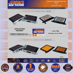 TRIUMPH BONNEVILLE 1200 SERIES, BOBBER 17-21 SPEEDMASTER 18-21 (INC 2 x FILTERS)